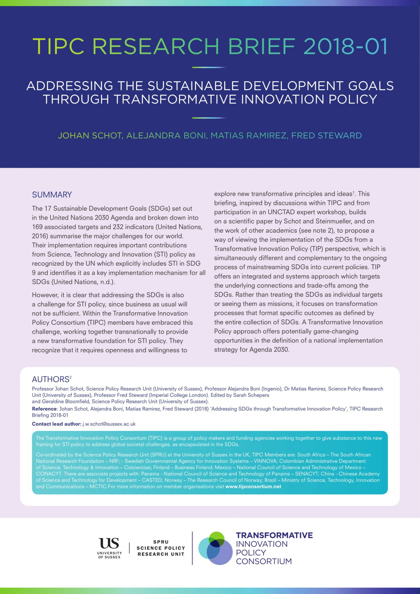 Publications - Transformative Innovation Policy